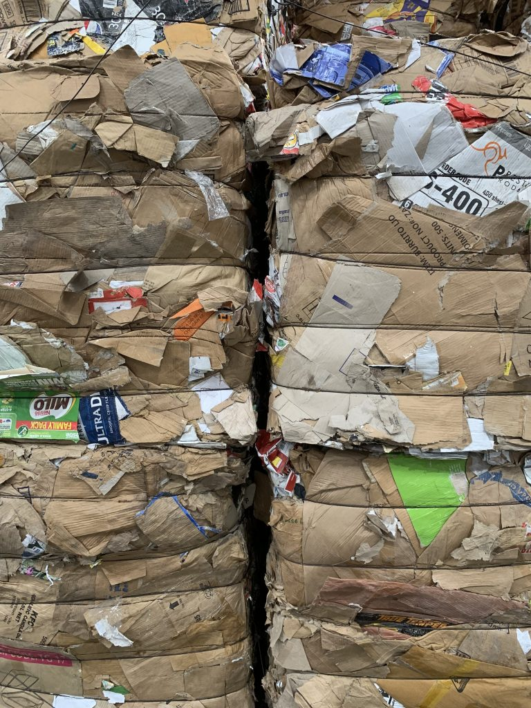 cardboard bale for recycling